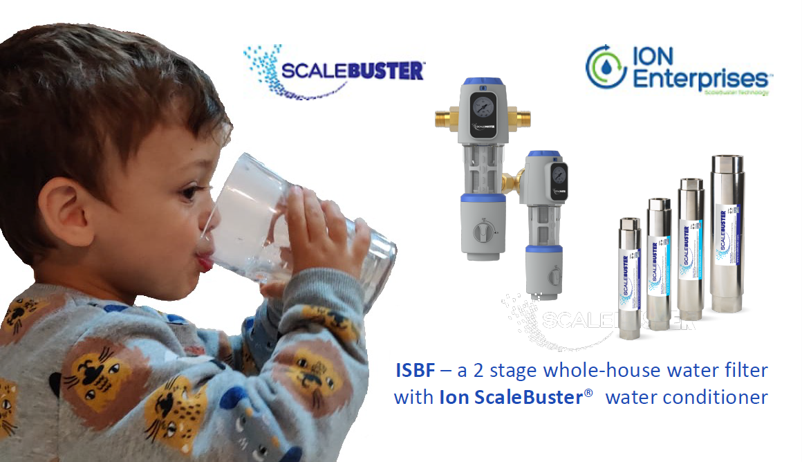 ISBF Kits: ISBF-T2N12C Back-wash Whole-House Water Filter With a ScaleBuster Water Conditioner