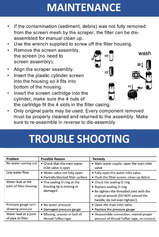 Water Filter User Manual